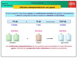2 cálculos con gases (volúmenes)