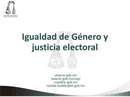 Hombres - Tribunal Estatal Electoral