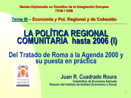Tema 3.1 - Instituto de Estudios de la Integración Europea