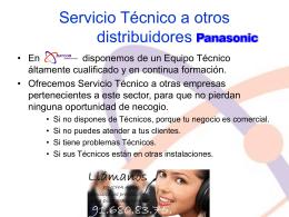 Servicio Técnico a otros distribuidores