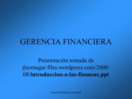 Presentación introducción a las finanzas