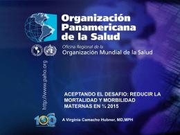 Vigilancia Epidemiológica de la Mortalidad Materna Es el