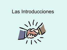 Las Introducciones