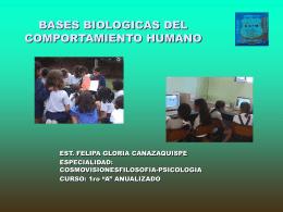 """""""Bases biológicas del comportamiento humano""""."""