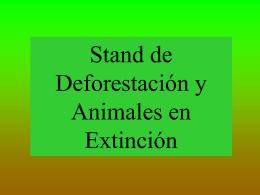 Stand De Deforestacion y Animales En Extincion