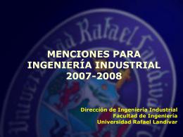 Menciones para Industriales