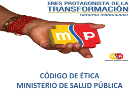 Slide 1 - Ministerio de Salud Pública