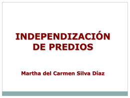 independización de predio urbano