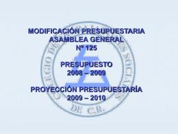 MODIFICACIONES - Colegio de Trabajadores Sociales de