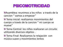 PSICOMOTRICIDAD - mi centro educativo