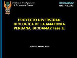 BIODAMAZ, resultados y desafíos - Instituto de Investigaciones de la