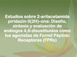 Estudios sobre 2-arilacetamida piridazin