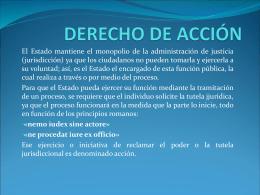 DERECHO DE ACCIÓN
