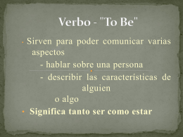 "Verbo - ""To Be"""