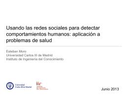 Usando las redes sociales detectar comportamientos humanos
