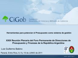 Luis Babino - El presupuesto como herramienta de gestion