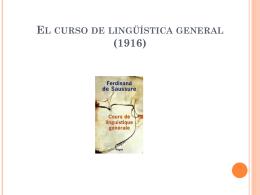 El curso de lingüística general (1916)