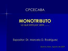 Proyecto de Reforma del Monotributo