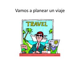 Vamos a Planear Un Viaje (Vocab List).
