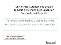 Universidad Autónoma de Sinaloa Facultad de Ciencias de la