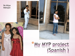 My MYP project (Spanish ) - hockerill student website