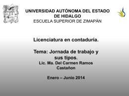Jornada de trabajo - Universidad Autónoma del Estado de Hidalgo