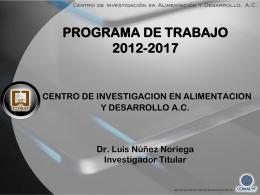 Programa de Trabajo - Centro de Investigación en Alimentación y