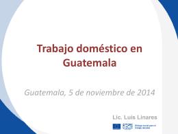 Trabajo doméstico en Guatemala – PW