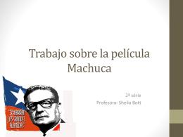 Trabajo sobre la película Machuca