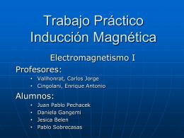 Trabajo Práctico Inducción - Electromagnetismo
