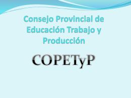 COPETyP - Dirección de Educación Técnico Profesional