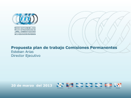 Plan de trabajo comisiones permanentes