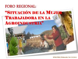 forum mujer trabajadora en la agroindustria
