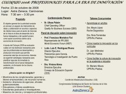 coloquio 2008 - Universidad de Puerto Rico, Recinto de Río Piedras