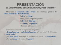 1- Exhortación de Santiago