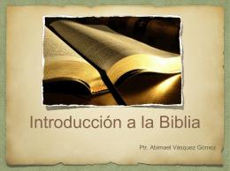 Introducción a la Biblia (PowerPoint)