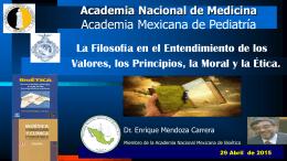 Dr. Enrique Mendoza Carrera - Academia Nacional de Medicina