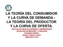 la teoría del productor y la curva de oferta.