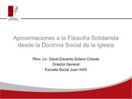 Filosofía Solidarista
