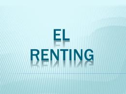 EL RENTING - Colegio Cooperativa San Saturio