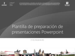 Plantilla para la presentación oral con Powerpoint