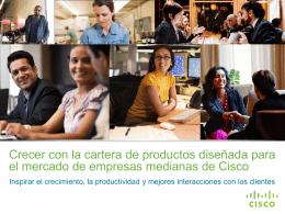 Cisco le ofrece a su empresa mediana