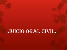 Civiles Orales - Páginas Personales UNAM