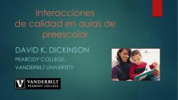 Presentación del Doctor David Dickinson, experto estadounidense
