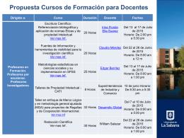 plan de formación para investigadores
