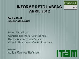 INFORME RETO LABSAG ABRIL 2012