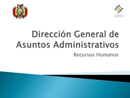 dgaa rrhh - Ministerio de Autonomías