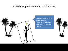 Actividades para hacer en las vacaciones
