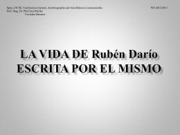 LA VIDA DE Rubén Darío ESCRITA POR EL MISMO