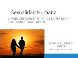 Presentación: SEXUALIDAD, dimensión